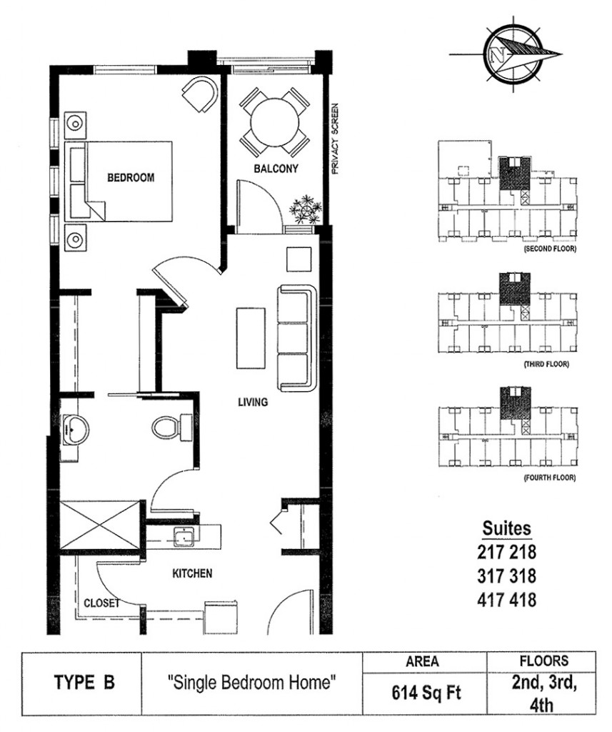 RJ Kent Senior's Housing - Type B Apartment Floor Plan